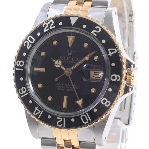 ロレックス ROLEX GMTマスター 16753BK/BK 中古A品