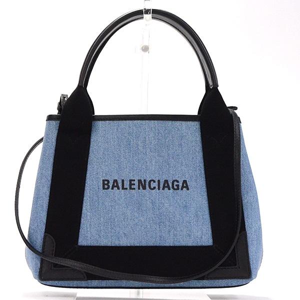 バレンシアガ BALENCIAGA ネイビーカバスXS 390346 中古A品