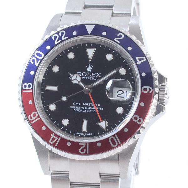 ロレックス ROLEX GMTマスター2 スティックダイヤル 16710BL/RD 中古A品