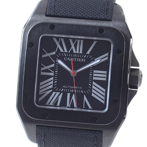 カルティエ Cartier サントス100 LM カーボンウォッチ WSSA0006 中古A品