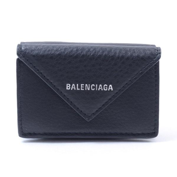 バレンシアガ BALENCIAGA ペーパーミニウオレット 391446 未使用品