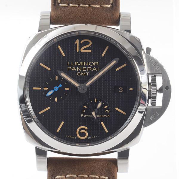 パネライ PANERAI ルミノール 1950 スリーデイズ GMT パワーリザーブ オートマティック アッチャイオ-42mm PAM01537 新品
