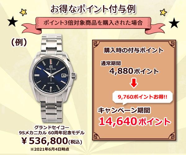 ポイント付与例時計