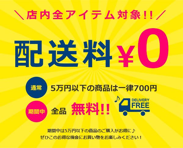 5万円以下のご注文も対象!!配送料無料