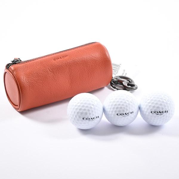 コーチ COACH ゴルフボールケース F34886 未使用品