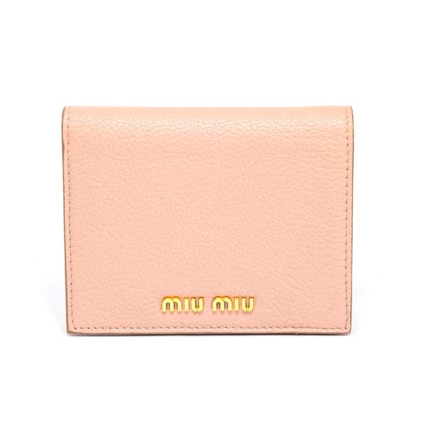 ミュウミュウ MIUMIU 2つ折り式財布 5MV204 中古A品