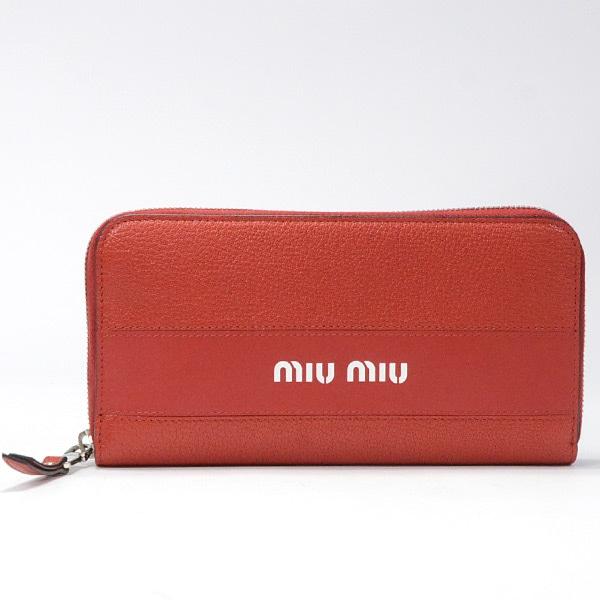 ミュウミュウ MIUMIU ラウンドファスナー 5ML506 未使用品