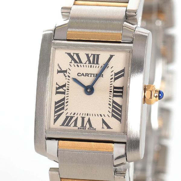 カルティエ Cartier タンクフランセーズSM W51007Q4 中古A品