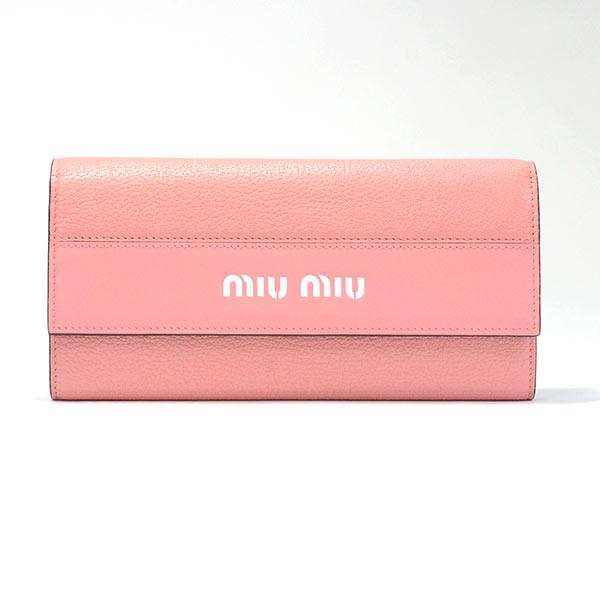 ミュウミュウ MIUMIU 2つ折り式長財布 5MH109 未使用品