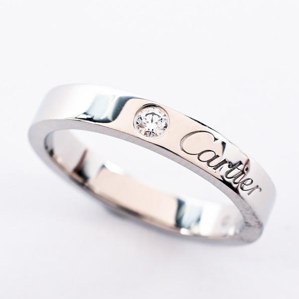 カルティエ Cartier エングレーブドウェディングリング B4051348 中古A品