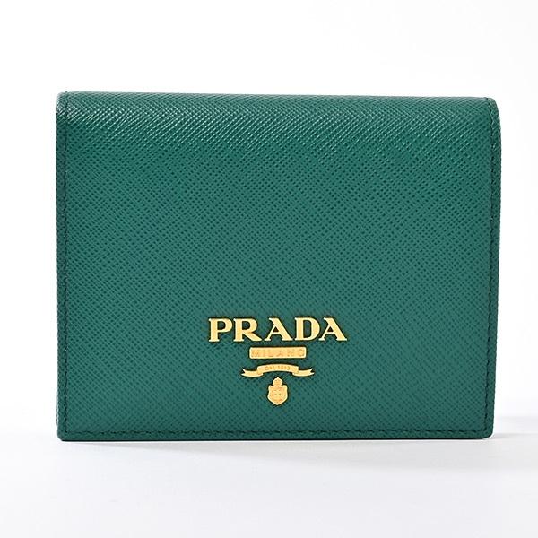 プラダ PRADA 二つ折り式財布 1MV204 未使用品