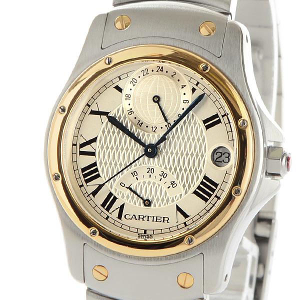 カルティエ Cartier サントスロンド GMT パワーリザーブ W20038R3 中古A品