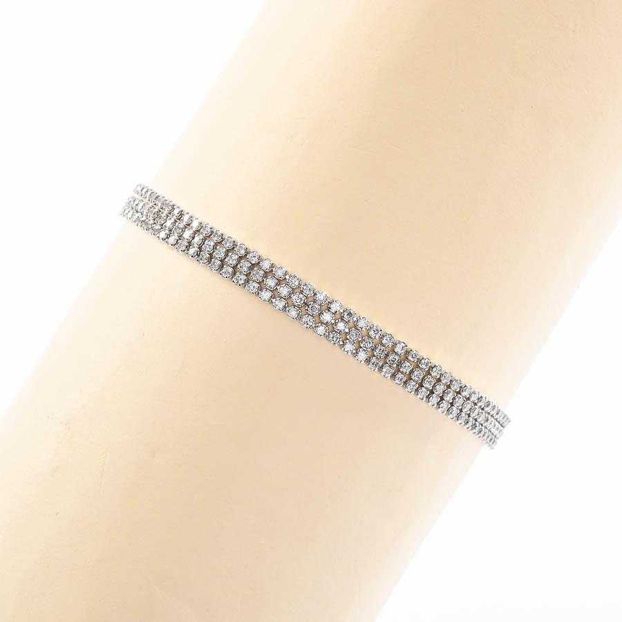 ノンブランドジュエリー ダイヤ ブレスレット K18WG 中古A品